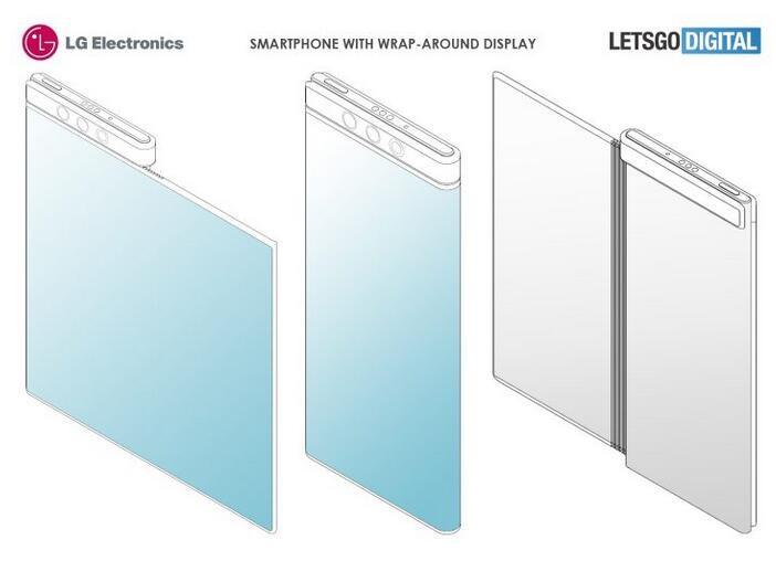 LG环绕屏专利曝光 具有三面屏幕可能利用磁吸固定