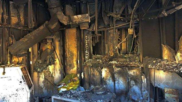 美驻伊大使馆遭冲击后内部曝光:窗户炸裂家具