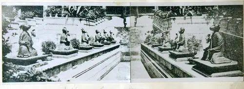 这是《圆明园旧迹图》中收集的被焚毁之前的圆明园海晏堂照片,堂中的12生肖铜像栩栩如生。新华社发