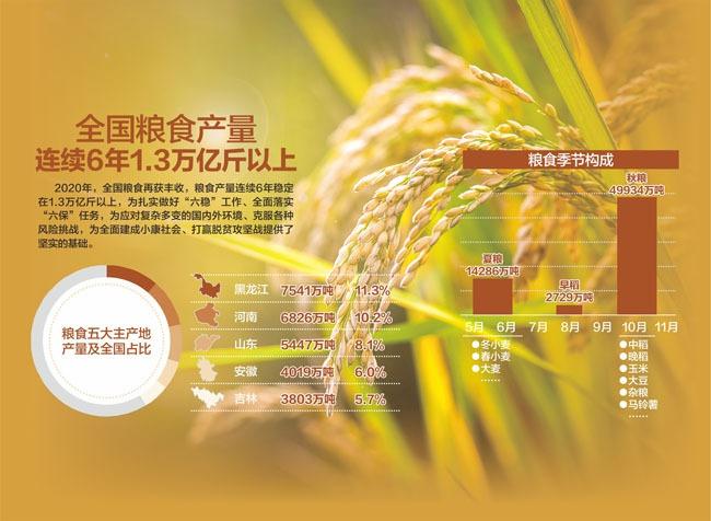 """我国粮食生产实现""""十七连丰"""""""