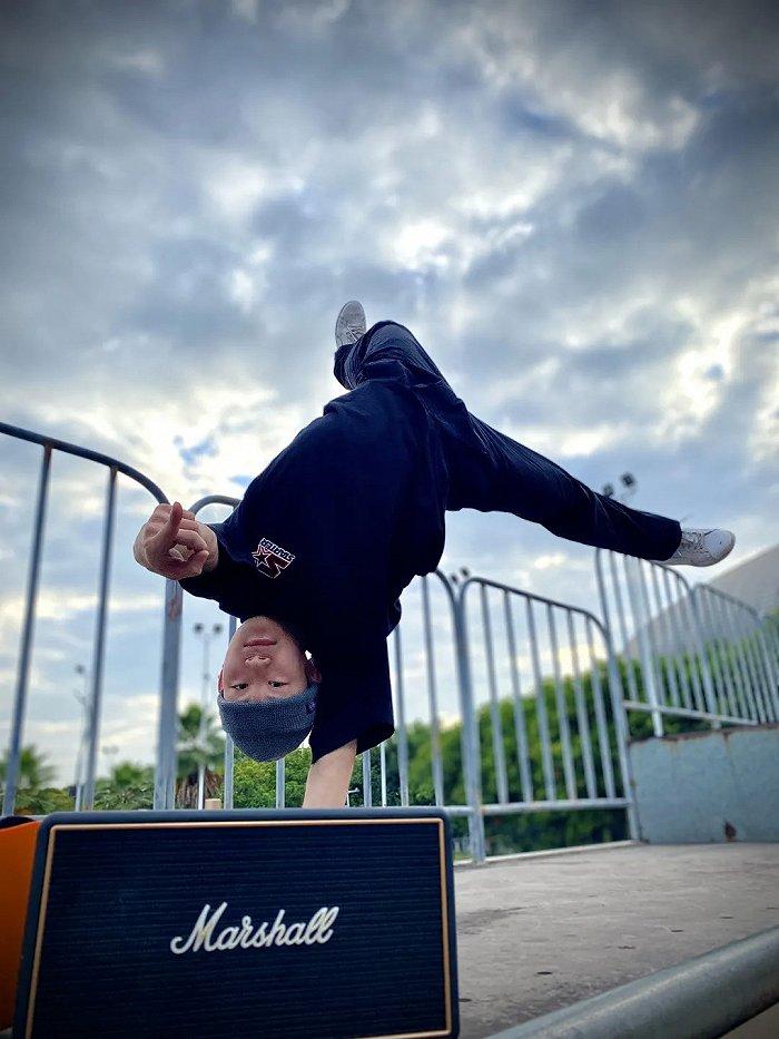 霹雳舞者bboy小锦。(图片由受访者提供)