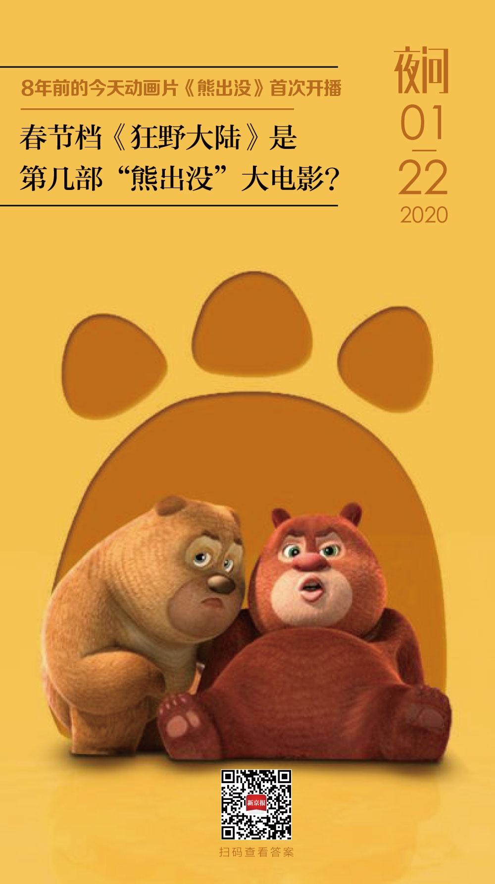 熊出没的时代,熊孩子都爱丨夜问