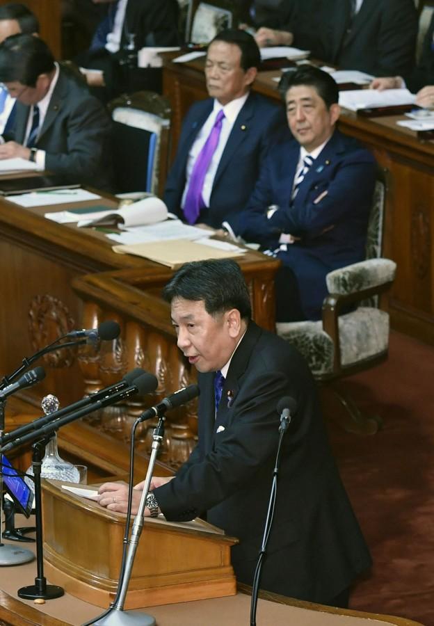 枝野幸男在国会要求安倍辞职(共同社)