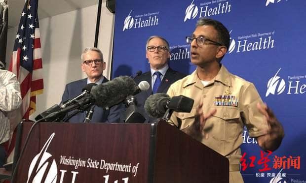 ↑21日,美国CDC宣布美国首例病患。图据卫报