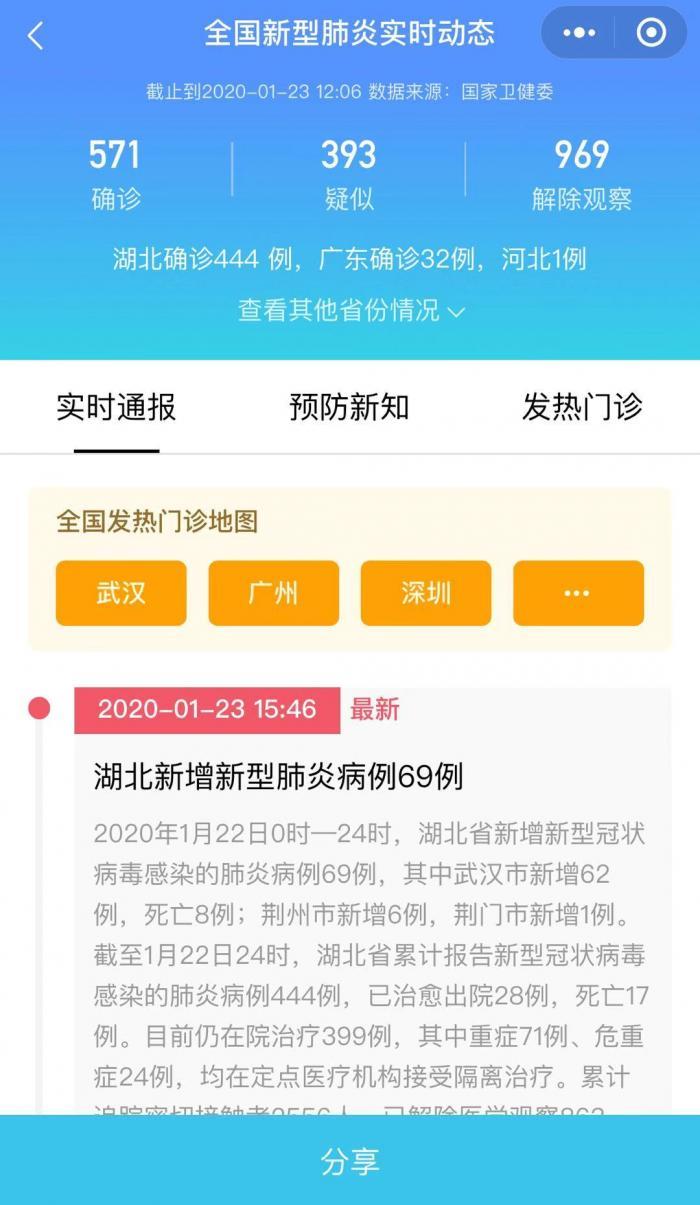 """騰訊上線""""發熱門診地圖"""" 用戶"""