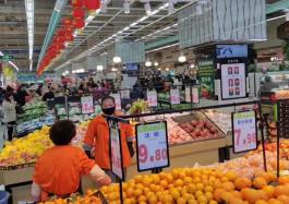 武商超市蔬菜、水果营业实景图(武商超市供图)