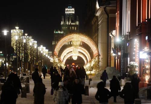图为俄罗斯首都莫斯科街头。新华社/卫星社