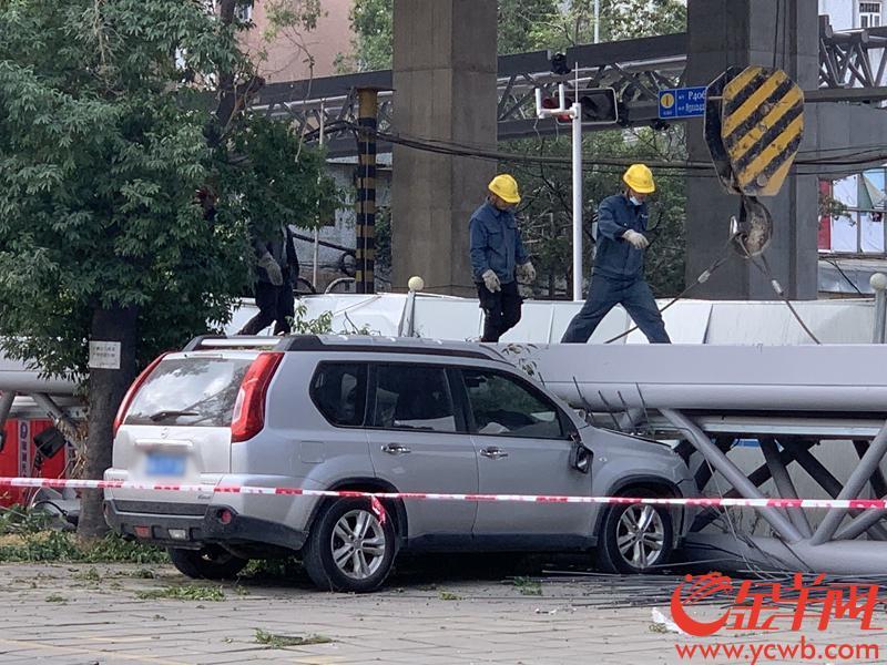 广州洛溪大桥滑落事件致3车受损 建设方:无伤亡 已成立技术专家组