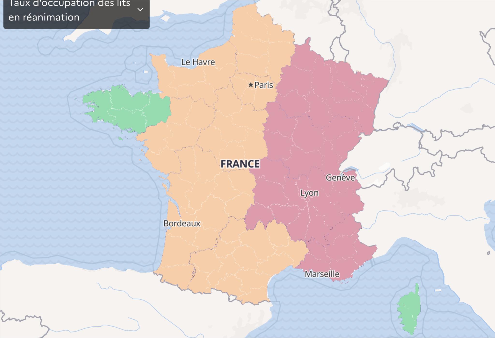 """暂时排除""""封城"""" 法国东部地区20个省份将延长宵禁时间"""