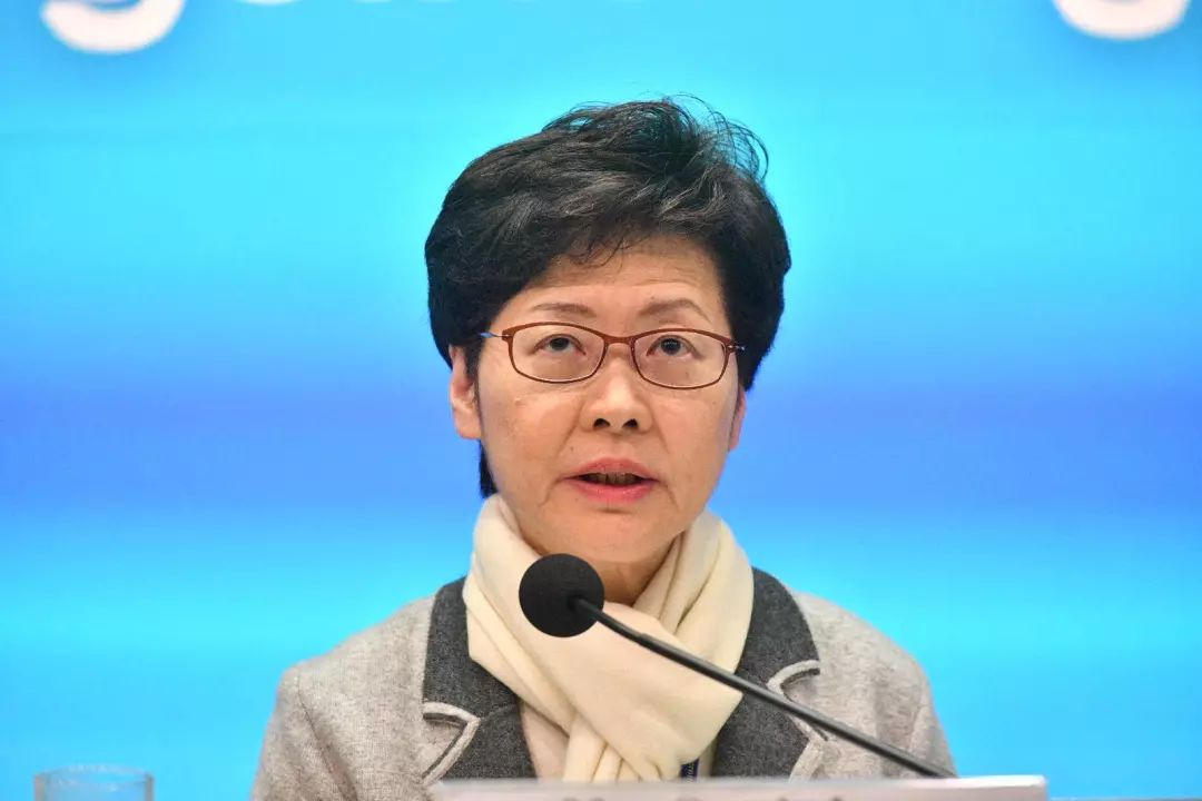 林郑月娥25日在记者会上 图自:港媒