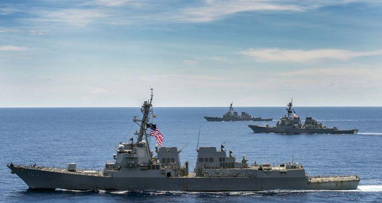 美国水兵的宙斯盾舰一向处于翻滚晋级中