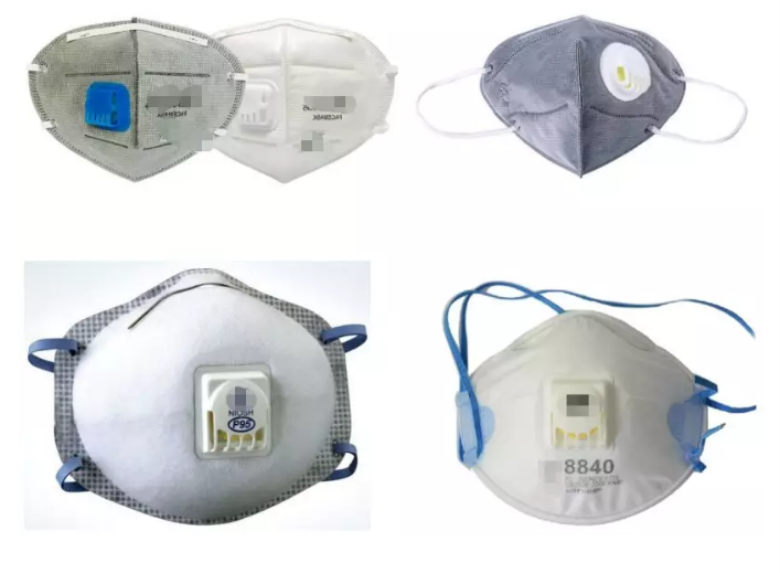 目前市场上售卖的带呼吸阀的口罩。(来自网络)
