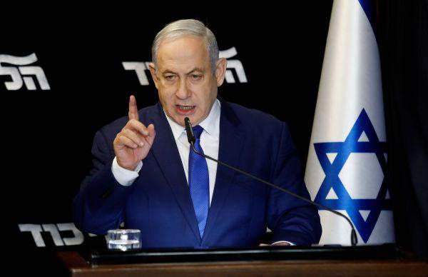 2019年12月27日,在以色列特拉维夫附近,内塔尼亚胡在赢得利库德集团主席选举后发表讲话。新华社 基尼图片社