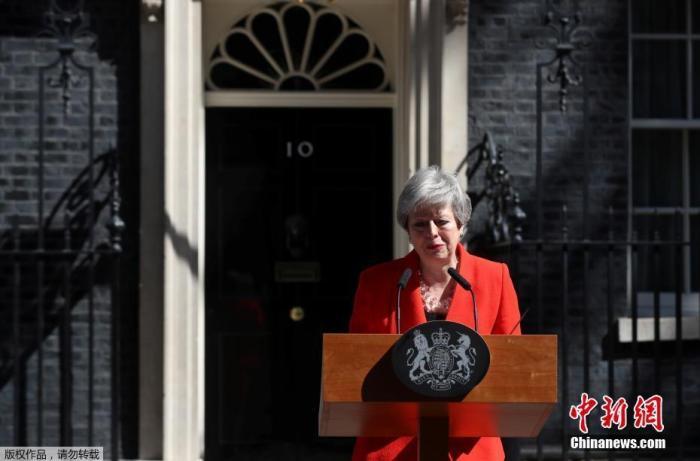 当地时间2019年5月24日,英国首相特蕾莎·梅宣布,将于6月7日辞去党首职位,并在新任党魁选出后,将卸任首相一职。