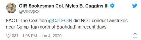 【蜗牛棋牌】在塔吉地区空袭伊拉克什叶派武装?国际联军否认