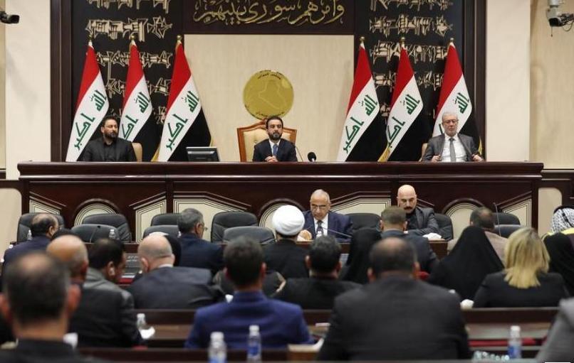 △2020年1月5日,伊拉克国民议会现场(图片来源:路透社)