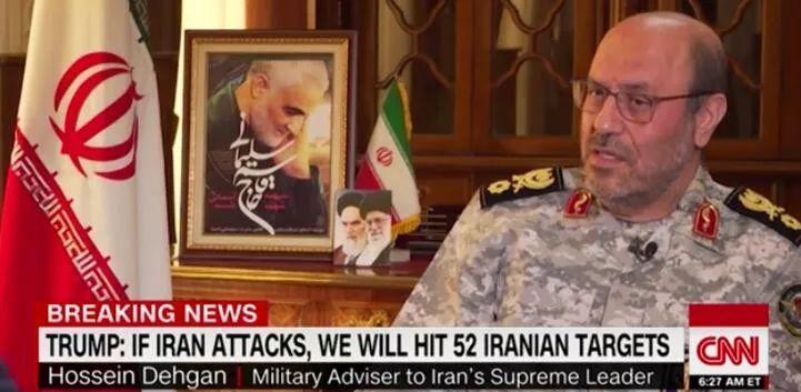 伊朗最高领袖哈梅内伊的军事顾问侯赛因·德赫恩将军批准CNN独家专访。