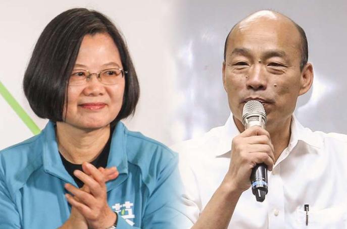 蔡英文与韩国瑜(风传媒)