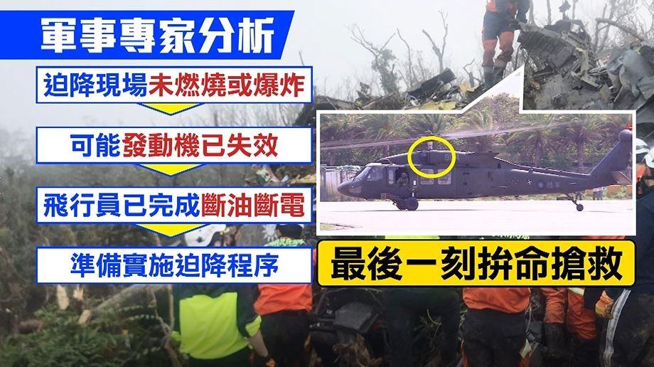 图为台军事专家推测失事原因(来源:台媒)
