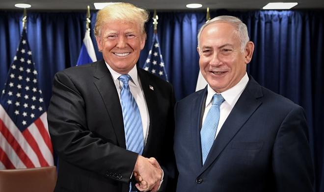 美国总统特朗普与以色列总理内塔尼亚胡(路透社)