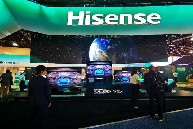 CES 2020:海信展出98英寸叠屏电视