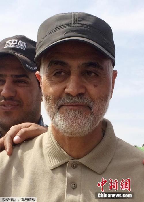 """资料图:伊朗伊斯兰革命卫队特种部队""""圣城旅""""高级军官卡西姆·苏莱曼尼。"""