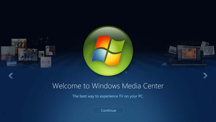 微软的多媒体平台野心,在Windows Media Center中体现得淋漓尽致