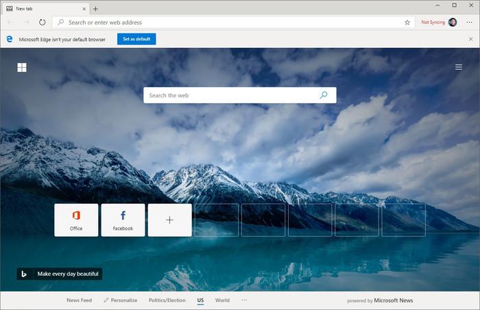 使用Chromium内核的新版Edge浏览器,IE香火终断绝