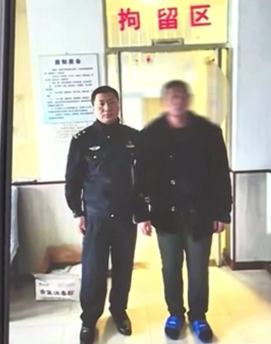 外子于某被肇东警方拘留。警方供图