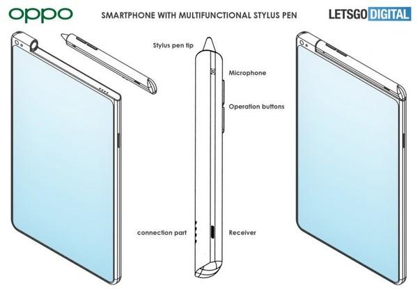 OPPO新机专利曝光 附带可自动充电的手写笔