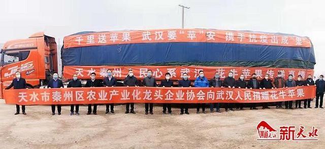 """秦州区农业产业化龙头企业协会捐赠28吨""""花牛苹果""""运往武汉战""""疫""""一线"""