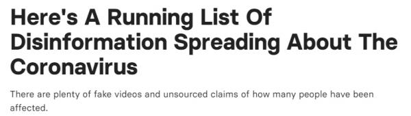 已经有美媒梳理了一系列涉及新冠肺炎疫情谣言