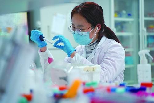 中科院上海巴斯德研究所科技攻关组科研人员正在开展工作。中科院上海巴斯德研究所供图