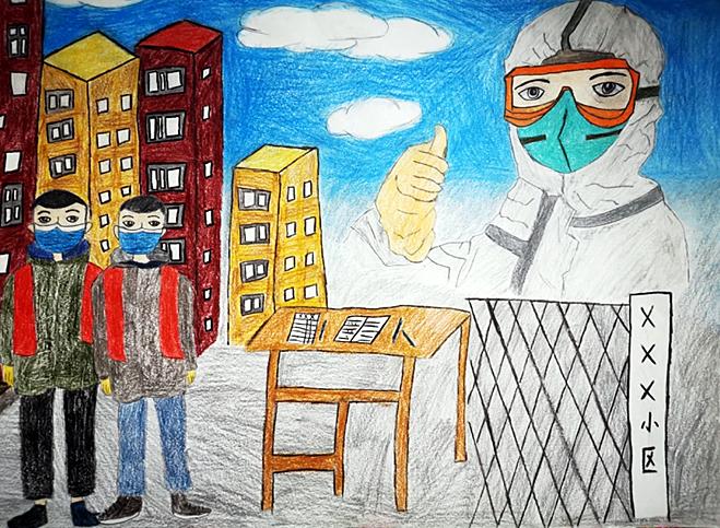 """中国宋庆龄青少年科技文化交流中心举办抗击疫情""""云画展"""""""