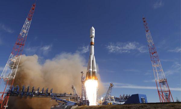 """原料图片:俄罗斯""""联盟""""号运载火箭发射转瞬。(俄国防部官网)"""