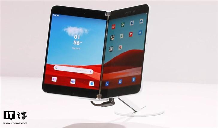 微软Surface Duo双屏专利曝光 匹配后置四摄