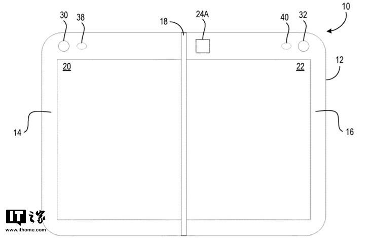 微软Surface Duo双屏设备运行Android系统:配备了前置摄像头和闪光灯