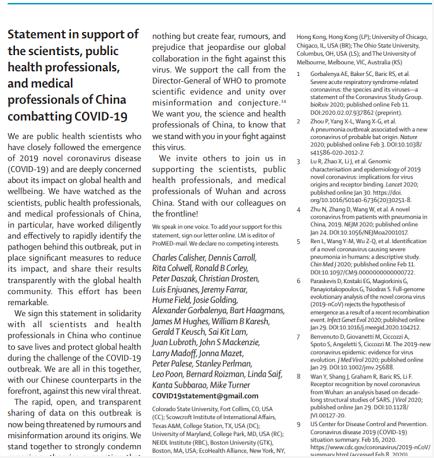 国际顶尖医学期刊27名专家声明反对阴谋论_图1-3