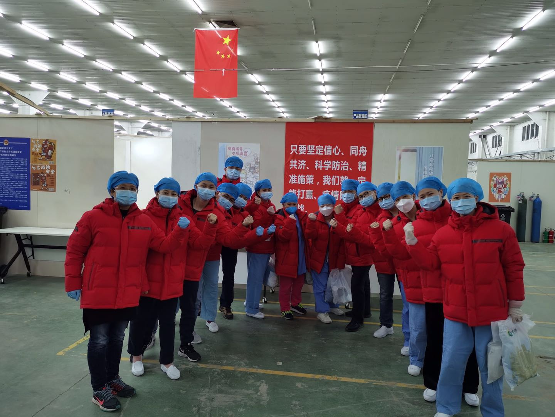 广东惠州援汉医疗队到达江汉方舱医院