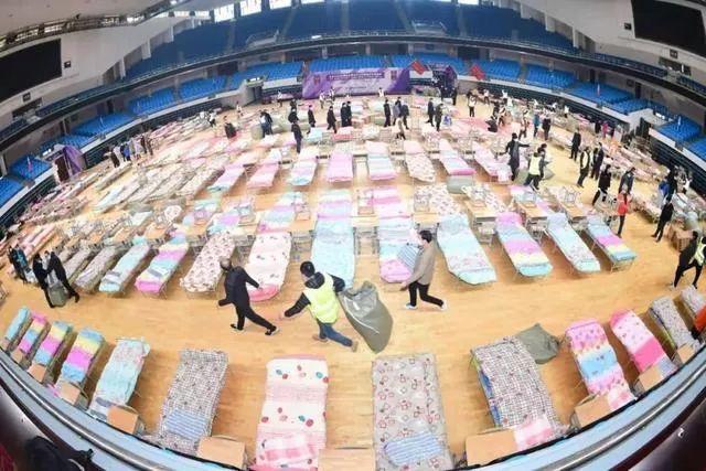 武汉洪山体育馆方舱医院/图片来源于网络