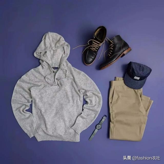 休闲裤+卫衣,今年型男都会穿得这么帅