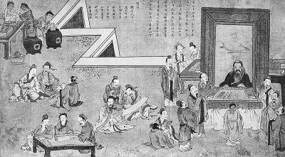 (清)焦秉贞 《孔子圣迹图·杏坛礼乐》