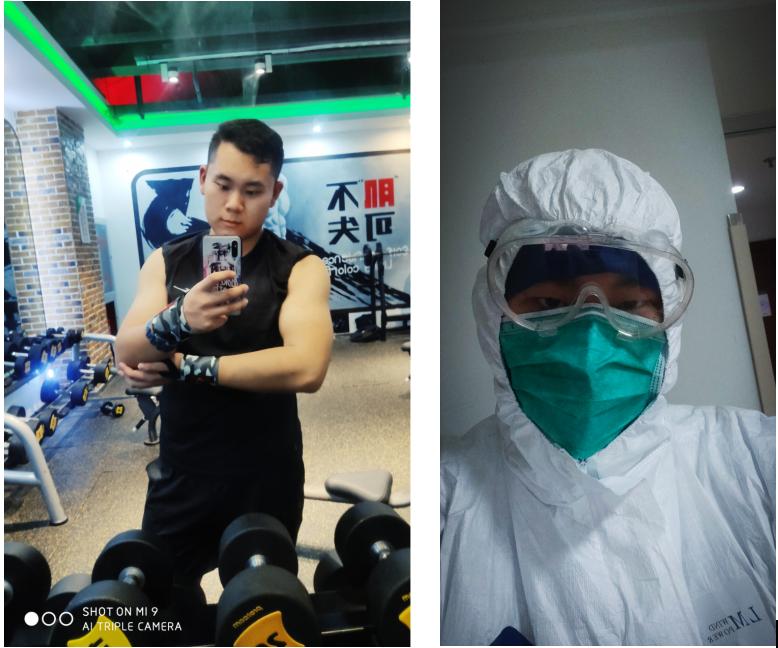 秦明业余时间喜欢在健身房度过。