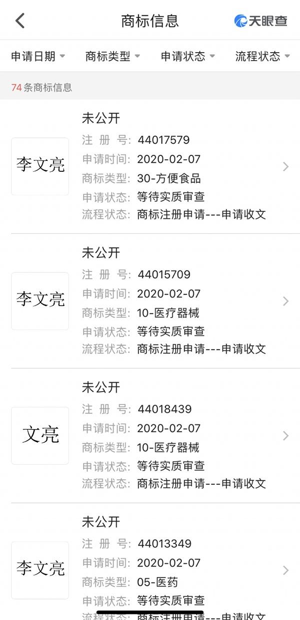 天眼查表现长沙市福茶堂电子商务有限公司申请商标截图。