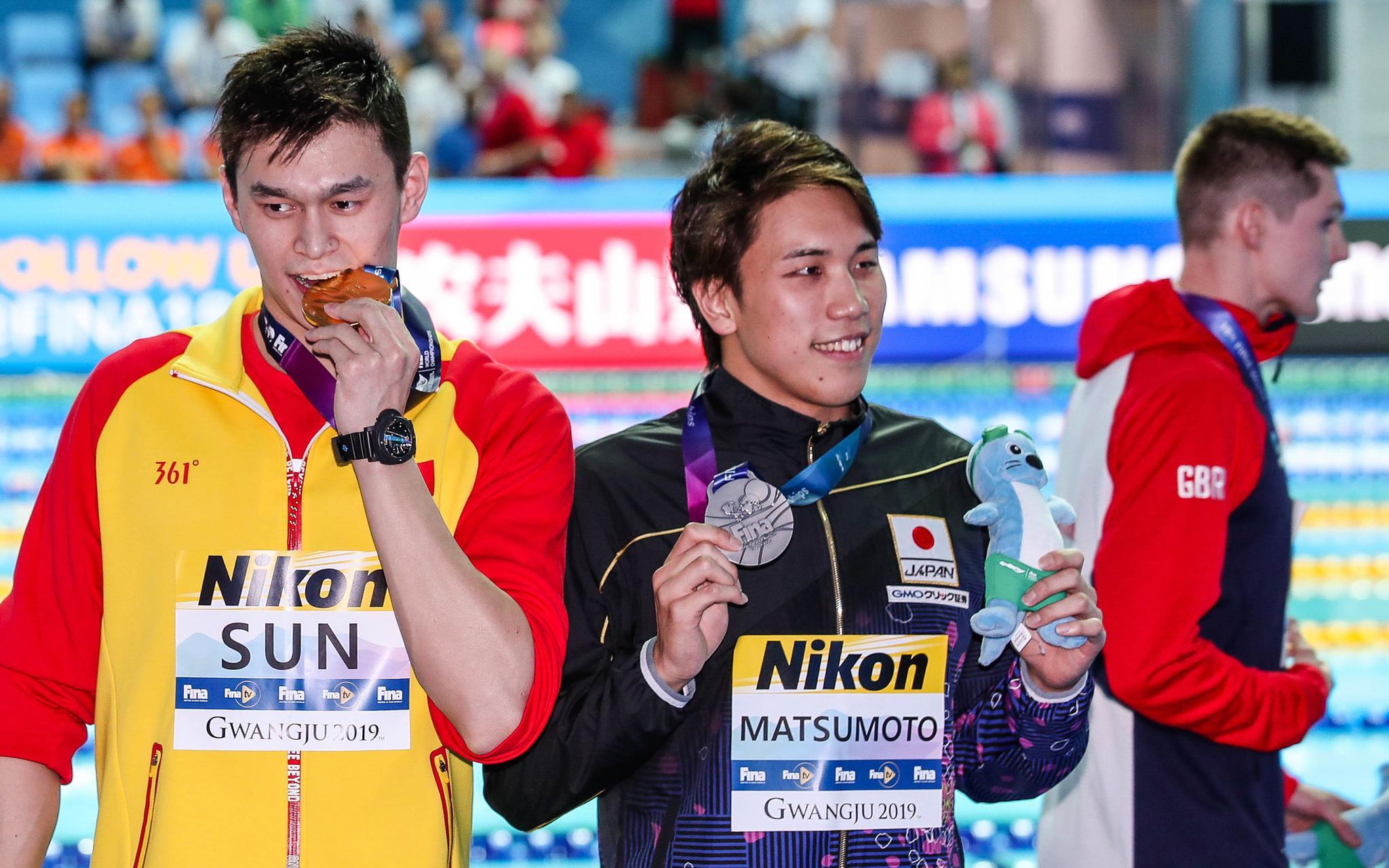 孙杨的运动生计打上了问号。图/Osports