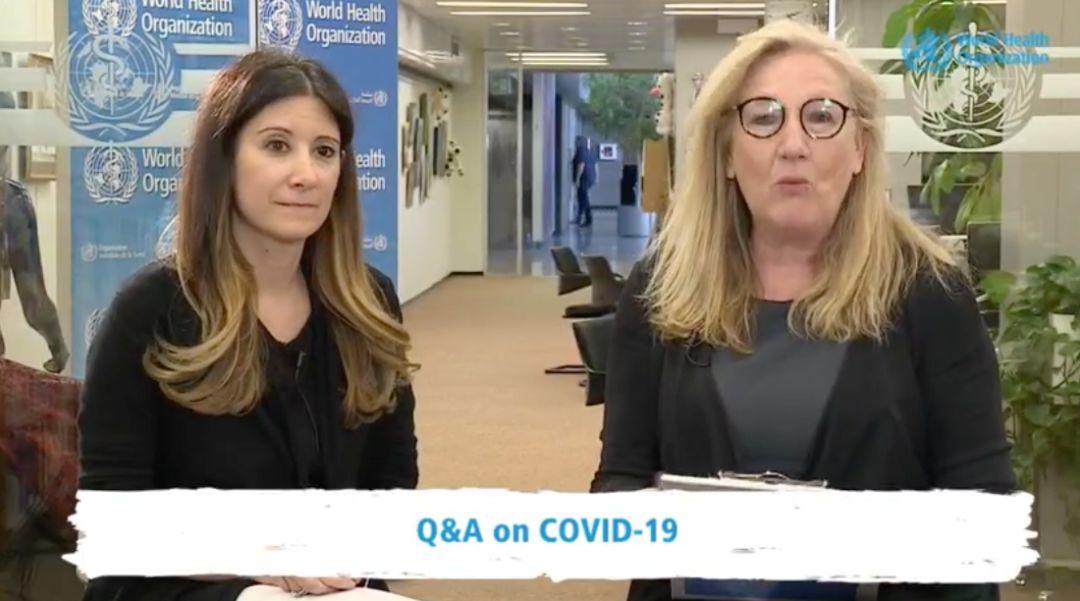 世卫布局行家回答相关新冠病毒的题目。图片来源:世卫官网