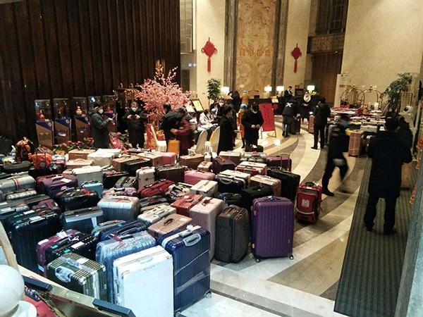 浙江省第二批医疗队专家抵达鑫宝来酒店本文图均为受访者提供