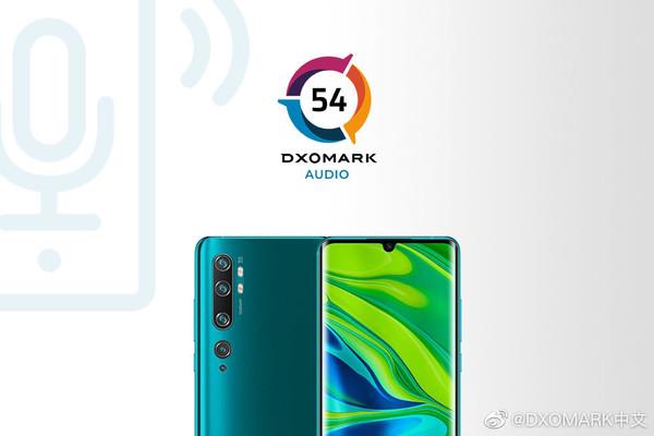 DXOMARK公布小米CC9 Pro尊享版音频得分 音损控制位居第二位