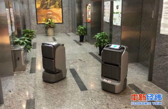 穿梭在电梯间的配送机器人 受访者供图