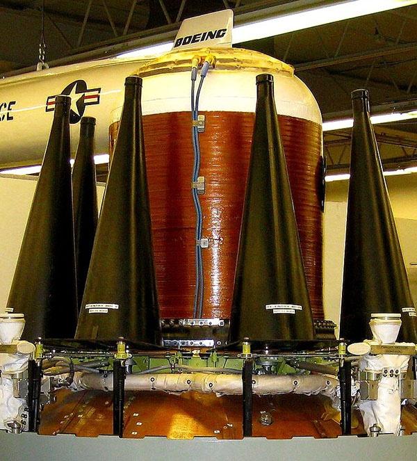 """""""三叉戟-2""""D5导弹分导式核弹头特写。"""